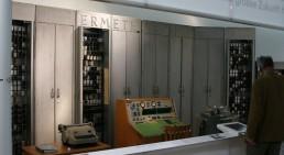 L'ordinateur ERMETH exposé jusqu'en 2016 au Musée de la Communication à Berne