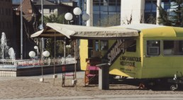 The Smaky caravan on Place de la Planta in Sion