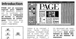 The Smaky Info magazine of December 1989 announces Page software by Daniel Roux.