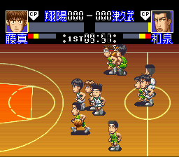 スラムダンク SDヒートアップ!! (Slam Dunk: SD Heat Up!! - 1995) sur Nintendo SNES, source Mobygames