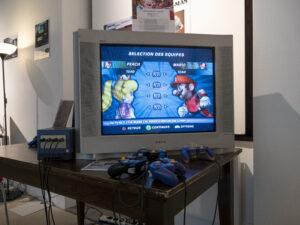 Le jeu vidéo Mario Smash Football (2005) sur Nintendo GameCube durant les JOJ Lausanne 2020