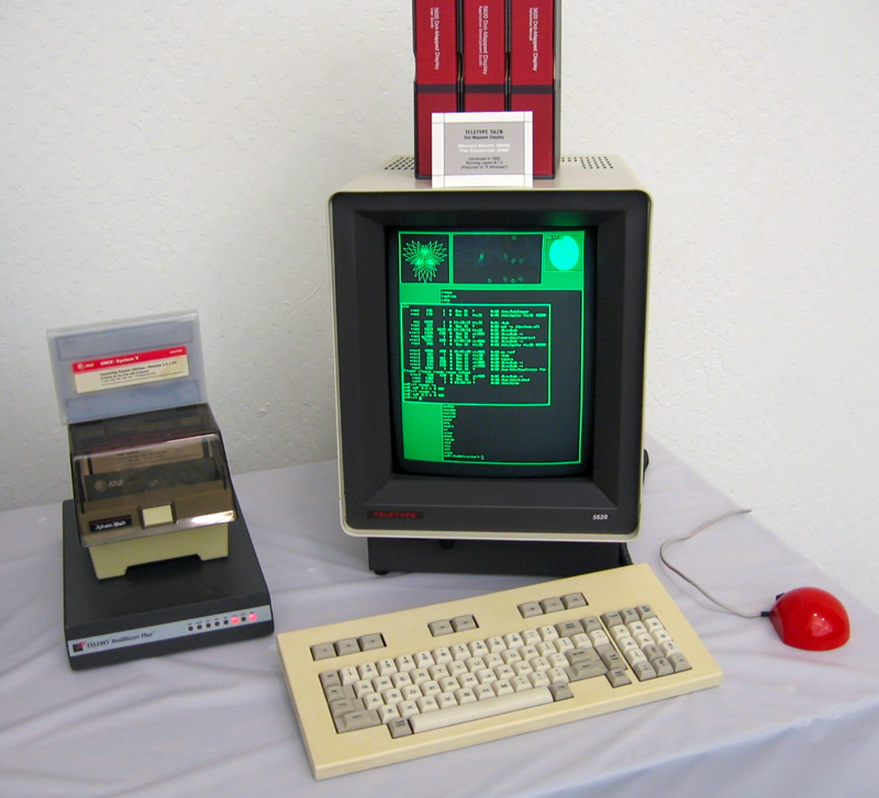 Source: Marcin Wichary - Flickr: Western Electric 32000 (Wikipedia Blit (computer_terminal))